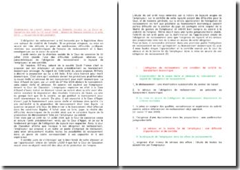 Commentaire d'arrêt de la Chambre sociale de la Cour de cassation du 12 juillet 2006 : l'obligation de reclassement