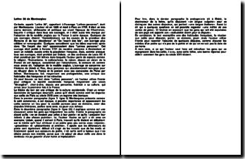 Lettre 36 de Montesqieu