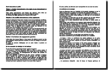 Droit international public : l'action internationale et les règles du jeu international