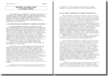 dissertation clonage humain