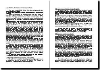 La qualification pénale des commissions par omission