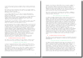 Commentaire d'arrêt, Cour de cassation, chambre commerciale, 27 mars 2007: notion de cause et notamment son aspect subjectif