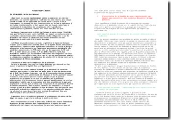 Commentaire d'arrêt, TC 17/10/2011, SCEA du Chéneau: légalité des actes règlementaires