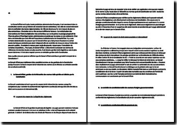 Dans quelles mesures peuton affirmer que le Conseil d'Etat contribue à garantir le respect de la Constitution ?