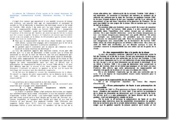 La preuve de l'absence d'une cause et la cause inconnue du dommage, commentaire d'arrêt, Chambres réunies, 13 février 1930