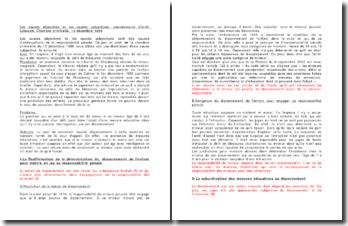 Les causes objectives et les causes subjectives, commentaire d'arrêt Laboude, Chambre criminelle, 13 décembre 1956