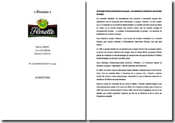 Florettes: stratégie d'internationalisation du groupe