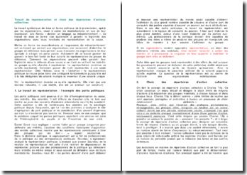 Travail de représentation et choix des répertoires d'actions collectives