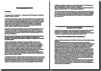 Commentaire d'arrêt du Conseil d'Etat en date du 11 mai 2004