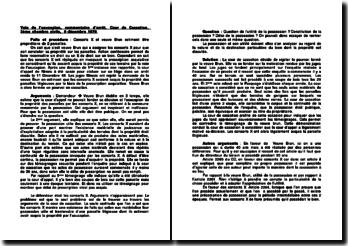 Voie de l'usucapion, commentaire d'arrêt, Cour de Cassation, 3ème chambre civile, 9 décembre 1970