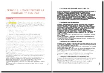 Les critères de la domanialité publique - appartenance à une personne publique, affectation à l'utilité publique , aménagement