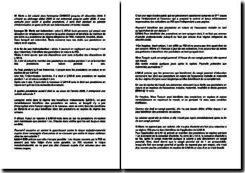 Etude de cas sur le congé parental d'éducation vis-à-vis du régime social des indépendants (RSI)