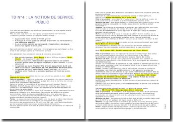 La notion de service public - intérêt général, collectivité et droit public