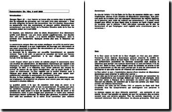 Commentaire d'arrêt de la Première Chambre civile de la Cour de cassation du 3 avril 2002 : la dépendance économique et le vice de consentement