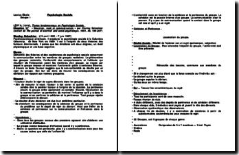 The journal of anormal and social psychologie, chapitre 17 - Stanley Schachter : Déviation, rejet et communication