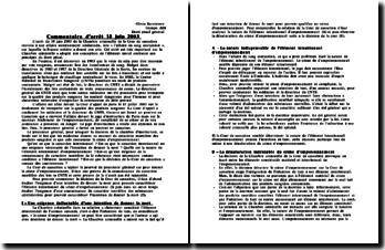 Commentaire d'arrêt 18 juin 2003: l'affaire du sang contaminé