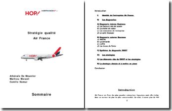 Stratégie qualité Air France