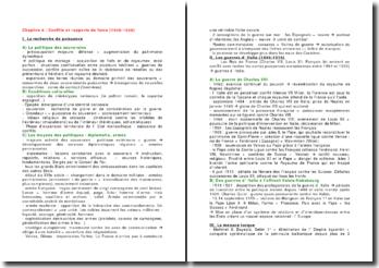 Conflits et rapports de force (1420-1520)