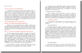La compétence de la juridiction administrative - principe de légalité, contrôle juridictionnel de l'administration