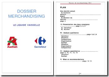 Dossier merchandising: le marché du liquide vaisselle chez Auchan et Carrefour