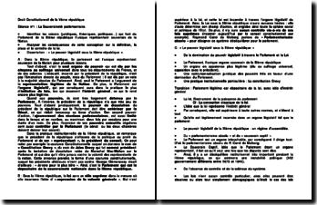 Droit Constitutionnel de la IIIème République
