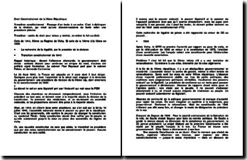 Droit Constitutionnel de la Vème République