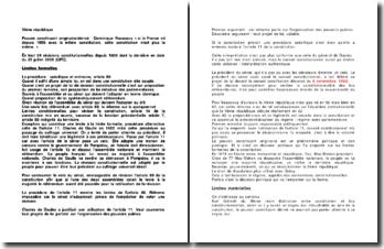 Les limites formelles et matérielles de la Vème République