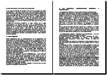 Le juge administratif et les normes constitutionnelles