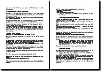 Les normes de référence des actes administratifs : le droit international