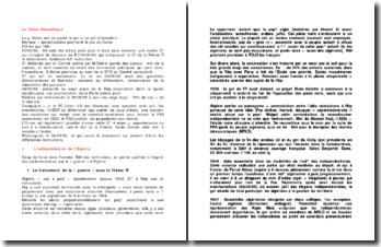 La Vème République - de l'Indépendance de l'Algérie à Pompidou
