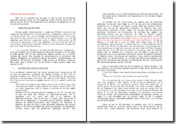 Création des services publics - caractère obligatoire ou facultatif et activités concernées