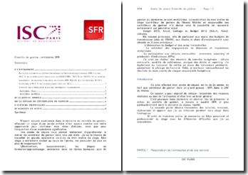 Contrôle de gestion : entreprise SFR