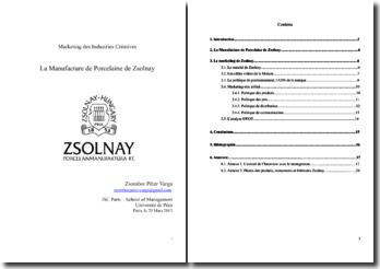 La Manufacture de Porcelaine de Zsolnay