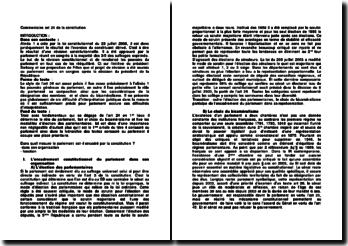Commentaire art. 24 de la constitution