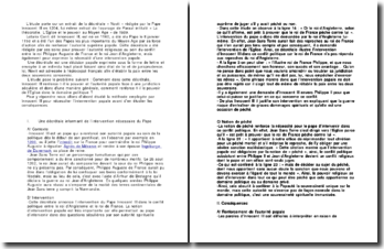 Etude d'un extrait de la décrétale « Novit » rédigée par le Pape Innocent III en 1204