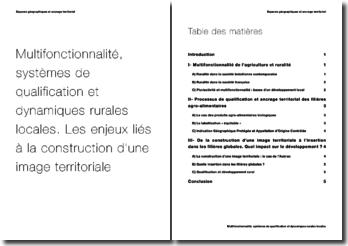 Multifonctionnalité, systèmes de qualification et dynamiques rurales locales