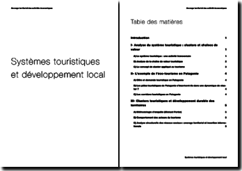 Systèmes touristiques et développement local