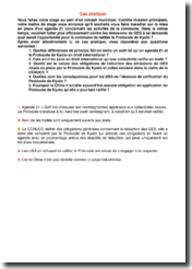 Etude de cas sur l'opportunité pour une commune de ratifier le Protocole de Kyoto