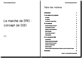 Le marché de ERD : Concept de Société de Service Décentralisé