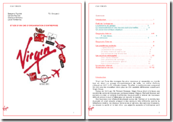 Etude d'un cas d'organisation d'entreprise: Virgin group