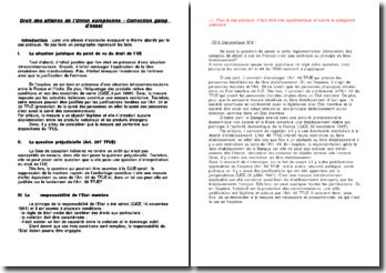 Correction d'un galop d'essai sur le Droit des affaires de l'Union européenne