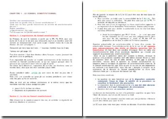 L'organisation et le rôle du Conseil constitutionnel