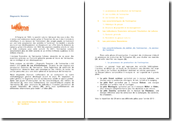 L'analyse financière de l'entreprise Lafuma