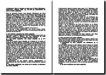 Jean Carbonnier, Droit et passion du droit sous la Vème République, 1996