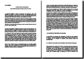 Commentaire d'arrêt de la Troisième Chambre civile de la Cour de cassation du 8 juin 2011 : l'action en justice de groupements