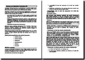 L'assurance des Collectivités Territoriales (CT)