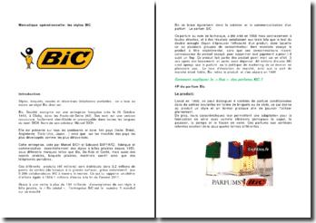 Mercatique opérationnelle: les stylos BIC