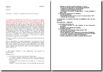 dissertation distinction régime parlementaire et régime présidentiel