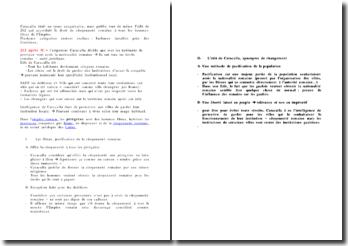 Commentaire de l'Edit de Caracalla écrit en 212