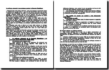 Le suffrage universel et ses pratiques pendant la Seconde République